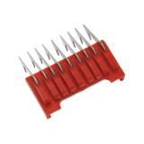 Edelstahl-Aufschiebekamm, rot