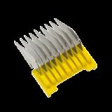 Edelstahl-Aufschiebekamm, gelb