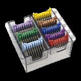 Edelstahl-Aufschiebekämme, farblich kodiert