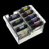 Edelstahl-Aufsteckkämme, farblich kodiert, großes Set